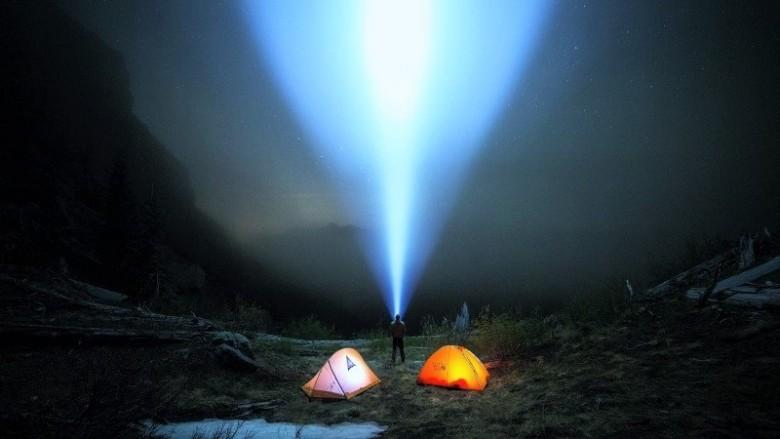 large LED flashlight