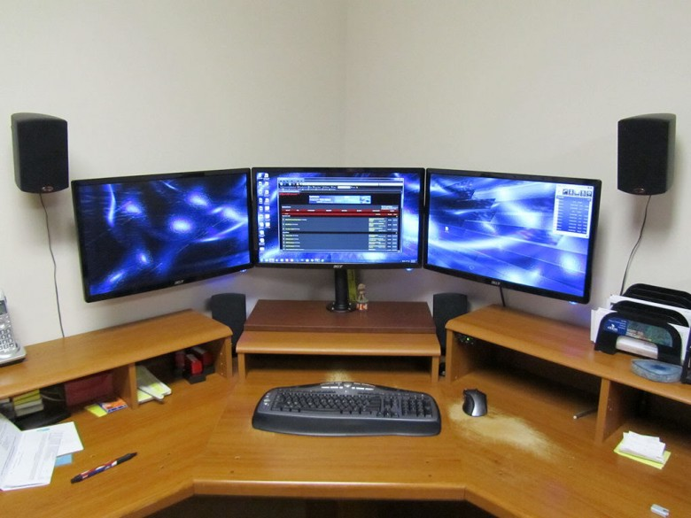 computer monitors wall bracket