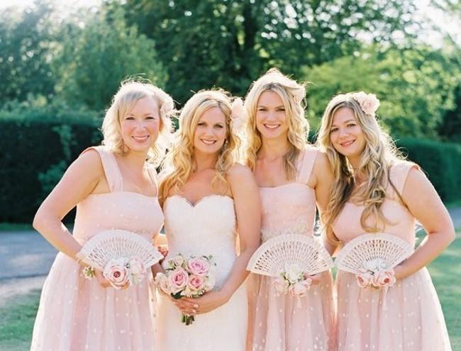 wedding fans
