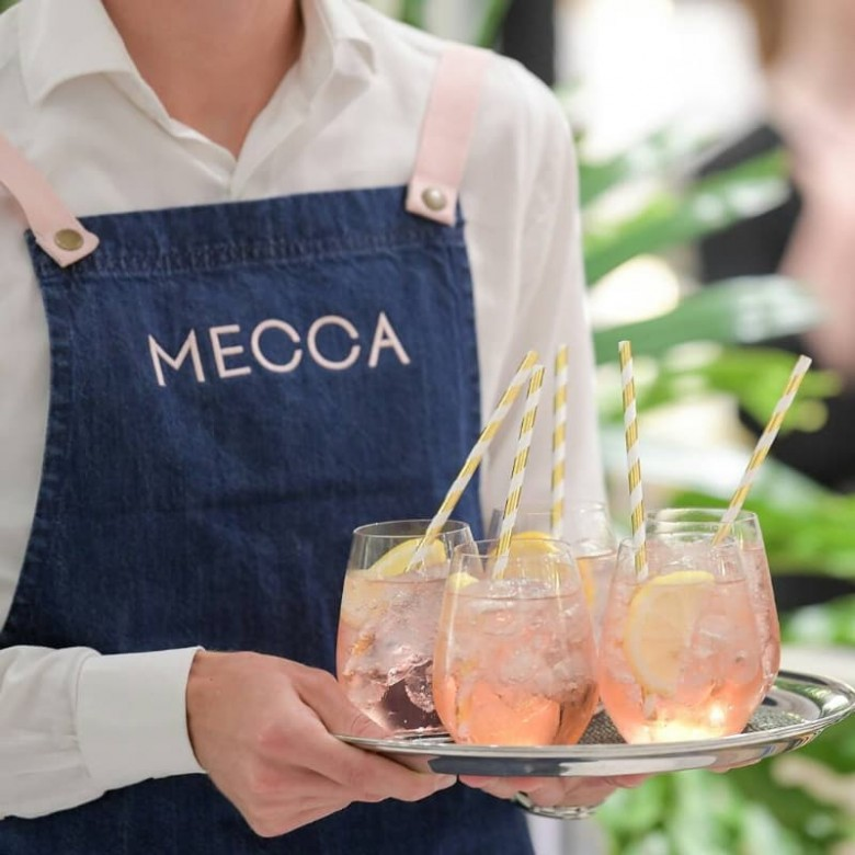 branded restaurant uniform with logo on apron