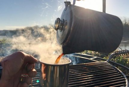 Campsite percolator coffee