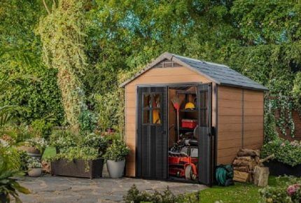 Slim Garden Shed Storage