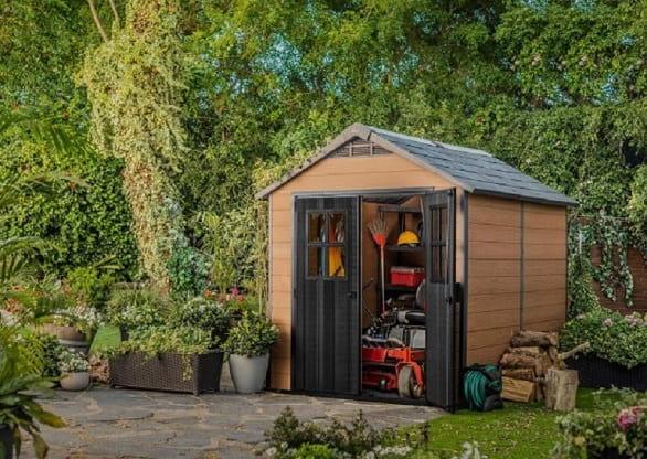 Slim Garden Shed Storage