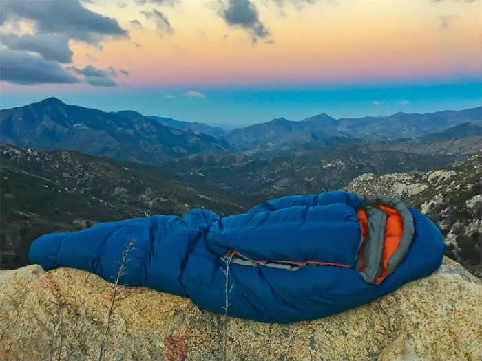 down backpacking sleeping bag