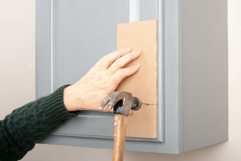 cabinet hardware instalation with template