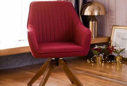 red modern armchair