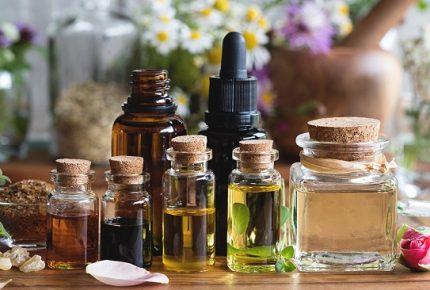 Close-up of essential oils