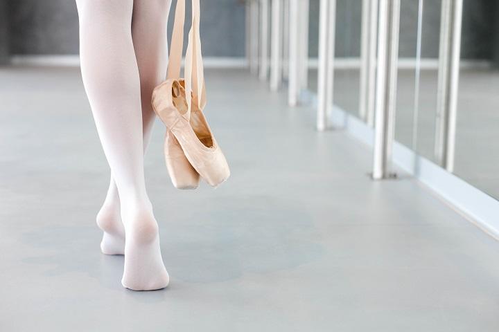Ballerina in tights