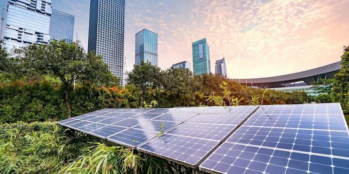 urban area solar panels