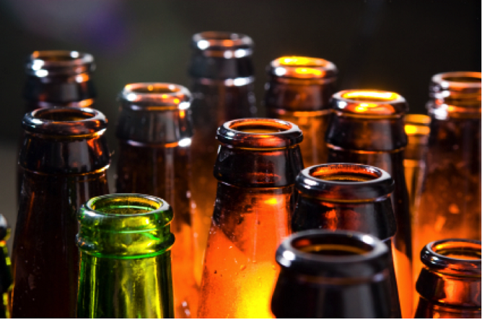 Homebrewed Beer in Bottles