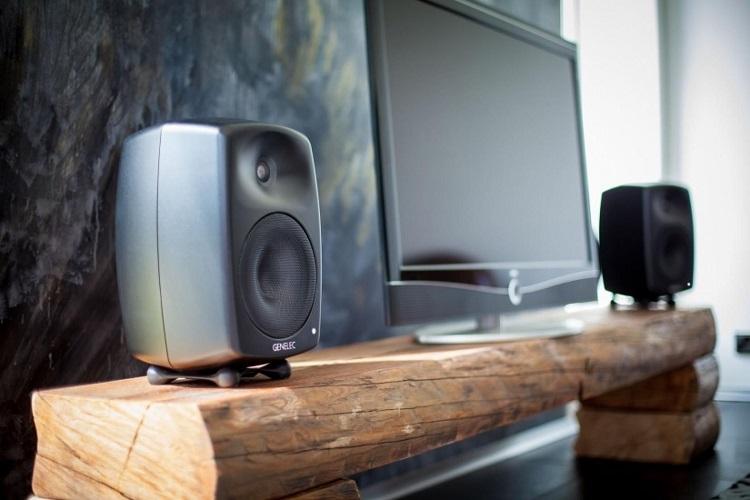 close up of speakers